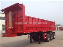 江苏省江阴市48英尺骨架式平板自卸后翻运输半挂车现在订做一台多少钱