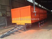 安徽省马鞍山市40英尺骨架式平板自卸运输半挂车能装多少吨