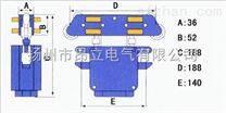 HJD4U集电器,扬州JDP4U160导管式滑触线集电器