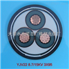 YJV铜芯高压电缆,YJV8.7/15kv 3*95高压交联电力电缆